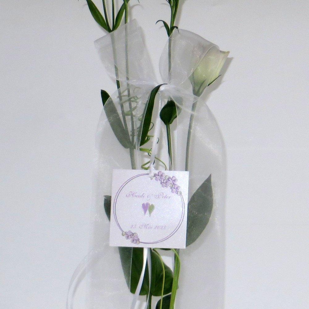 Autoschleife Blumenkranz flieder