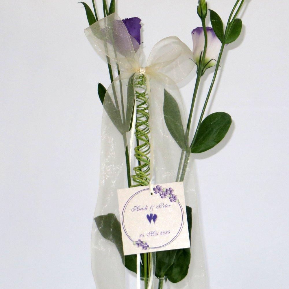 Autoschleife Blumenkranz lila
