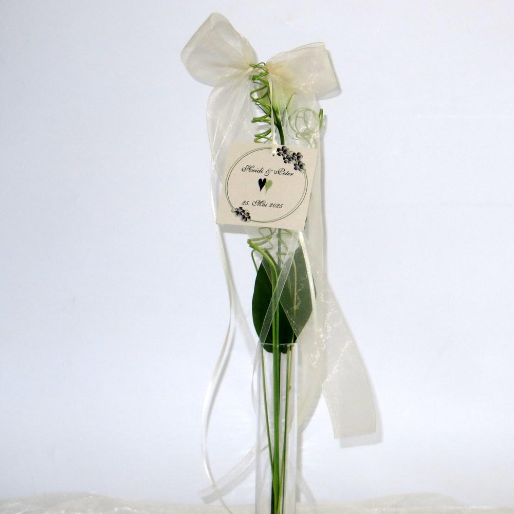 Autoschleife Blumenkranz in schwarz