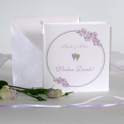 """Dankeskarte """"Blumenkranz"""" flieder"""