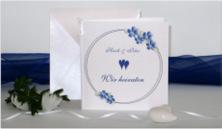 Blumenkranz blau & weiß