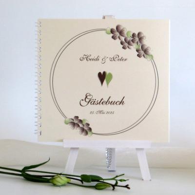 "Gästebuch ""Blumenkranz"" braun"
