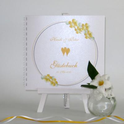 """Gästebuch """"Blumenkranz"""" gelb"""