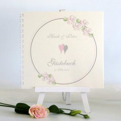 """Gästebuch """"Blumenkranz"""" rosa"""