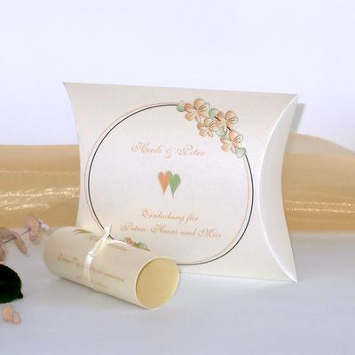"""Hochzeitseinladungsbox """"Blumenkranz"""" apricot"""