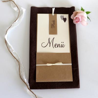 Menü- und Tischkarte