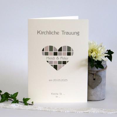"Kirchenheft ""Karoherz"" grün"