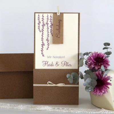 """Hochzeitseinladung """"Botanik"""" beere"""