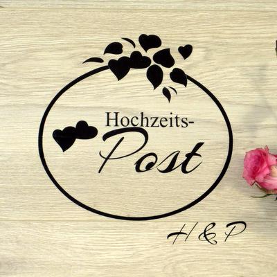 "Beschriftung ""Hochzeitspost"" floral"