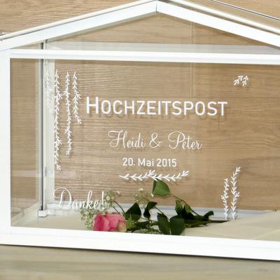 """Beschriftung """"Hochzeitspost"""" botanik"""
