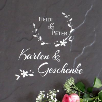 """Beschriftung """"Hochzeitspost"""" dekorativ"""