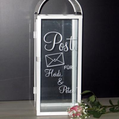 """Beschriftung """"Hochzeitspost"""" trendy"""