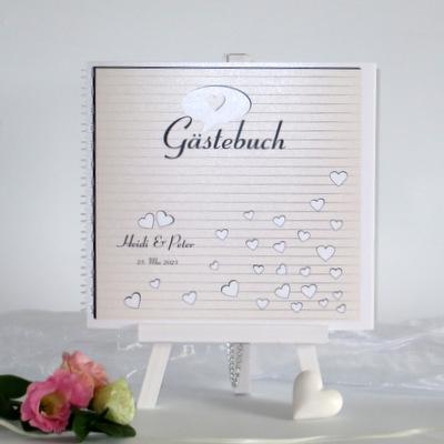 """Gästebuch """"Herzzeit"""" creme"""