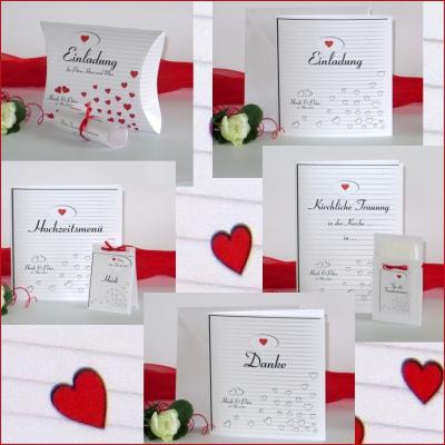 """Hochzeitskollektion """"Herzzeit"""" rot"""