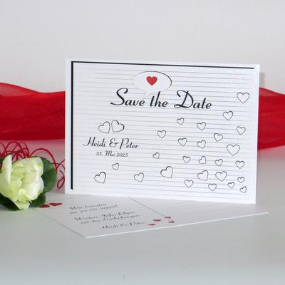 "Save the Date ""Herzzeit"" rot"