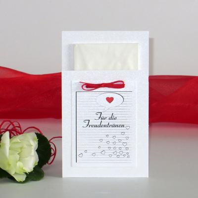 """Taschentuchtasche """"Herzzeit"""" rot"""