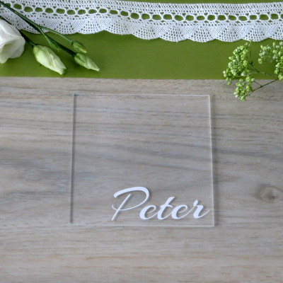 """Acryl Untersetzer & Tischkarte """"Stil"""""""