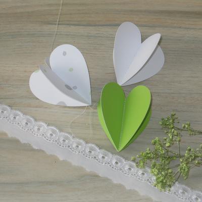 """Herzgirlande """"Blättertraum"""" grün"""