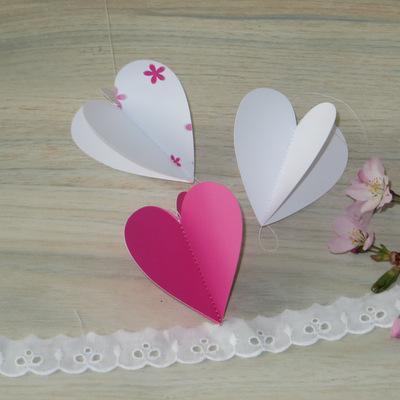 "Herzgirlande ""Blumenmeer"" pink"