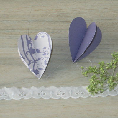 "Herzgirlande ""Florales Design"" flieder"