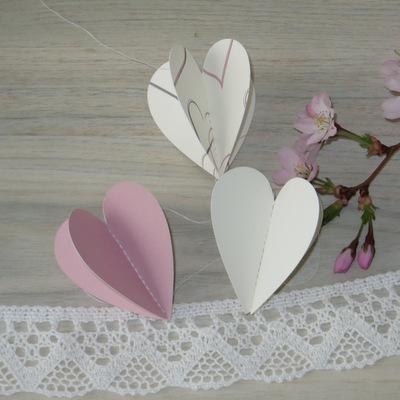 "Herzgirlande ""Harmonie"" rosa"