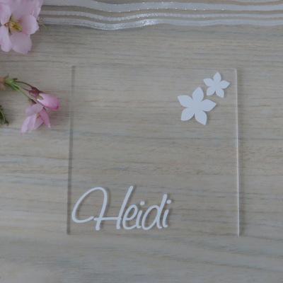 """Acryl Untersetzer & Tischkarte """"Blumen"""""""