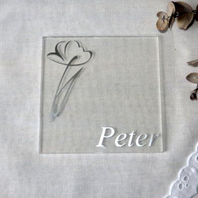 """Acryl Untersetzer & Tischkarte """"Flower"""""""