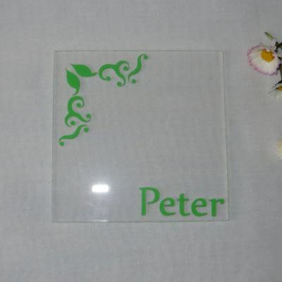 """Acryl Untersetzer & Tischkarte """"Ornament"""""""