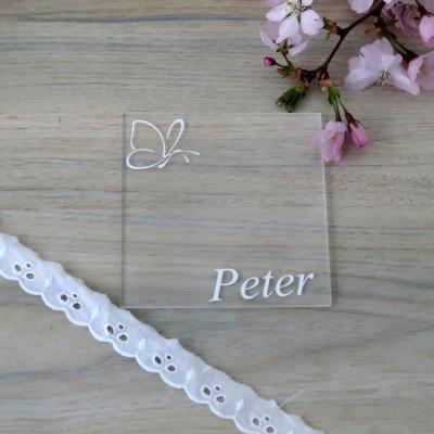 """Acryl Untersetzer & Tischkarte """"Schmetterling"""""""