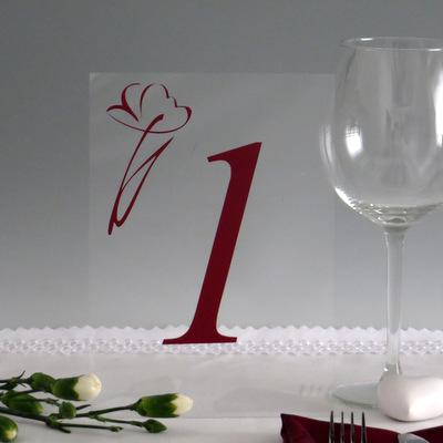 """Acryl Tischnummer """"Flower"""""""
