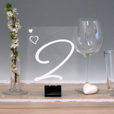"""Acryl Tischnummer """"Herzen"""""""