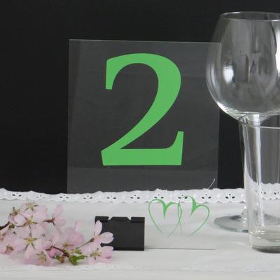 """Acryl Tischnummer """"Herzschlag"""""""