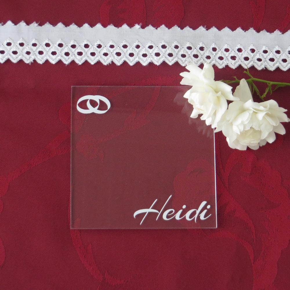 """Acryl Untersetzer & Tischkarte """"Ringe"""""""