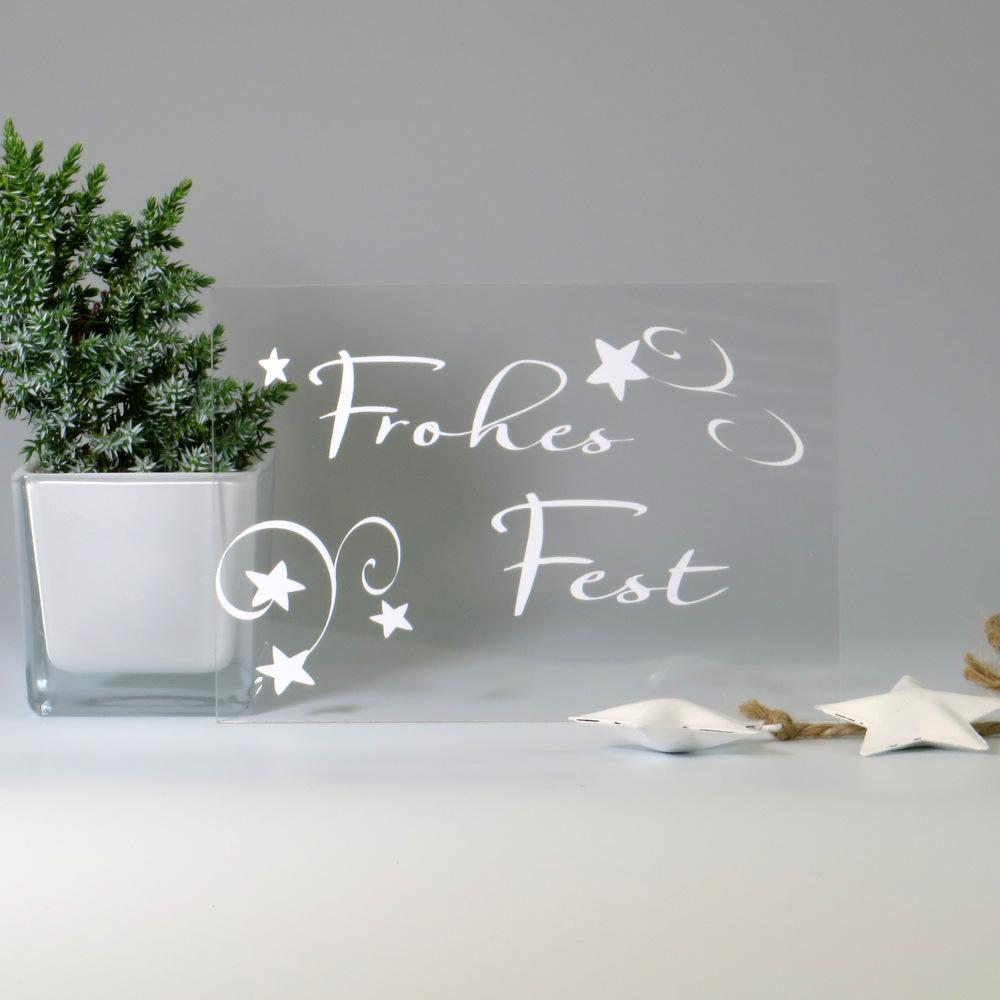 Weihnachtskarten aus Acryl