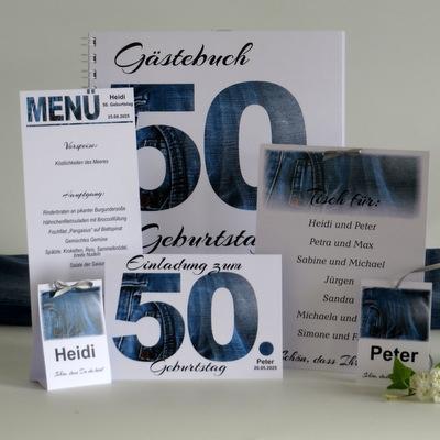 Kartenset zur Geburtstagsfeier mit dem trendigen Motto