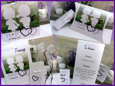 Mit einem Foto gestaltete Hochzeitseinladungen und Hochzeitspapeterie