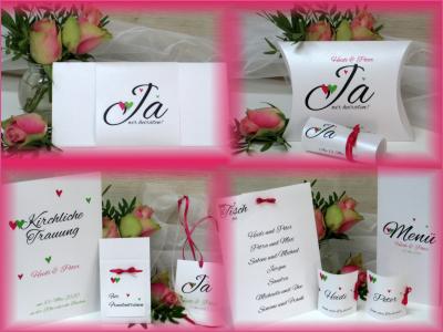 Hochzeitskarten in kräftigen, frischen Farben