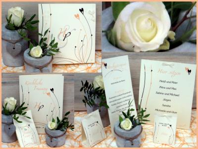Hochzeits- und Traufkarten mit besonderen Details im Vintagelook.