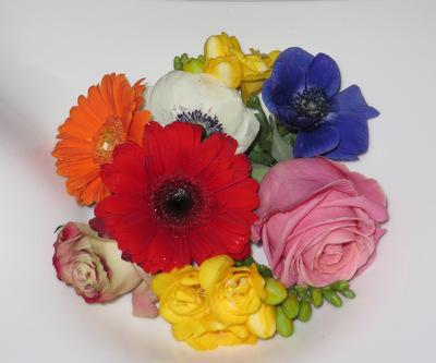 Bunte Blumendeko für Ihre Traufe