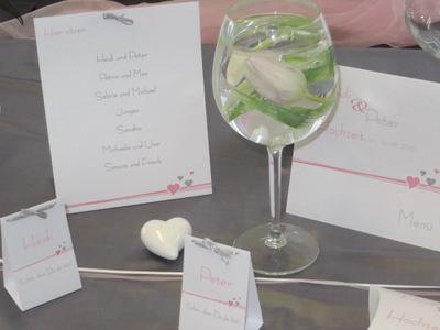 Besondere Karten für eine Hochzeit mit gleichzeitiger Taufe.