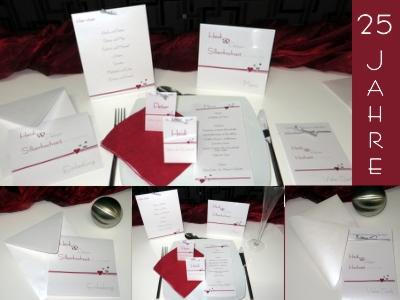 Einladungskarten und Papeterie für eine Silberhochzeit