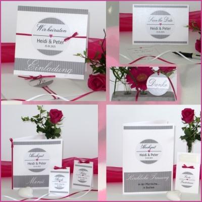 Hochzeitskarten mal ausgefallen - mit einem schlichten Design und besonderen Extras