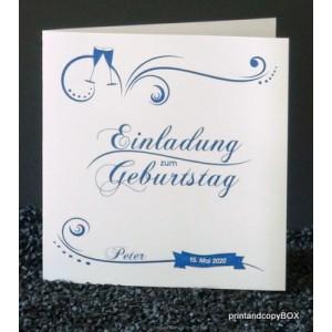 Moderne Einladungskarte zum Geburtstag