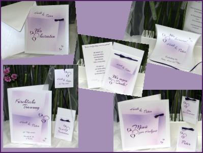 Besondere Hochzeitskarten in der Lieblingsfarbe