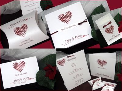 Sehr moderne Hochzeitskarten mit edlem Schimmer