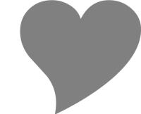 Ein Herz als Symbol für die Hochzeit