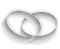 Silberne Ringe als Symbol für die Silberhochzeit