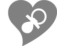 Ein Herz als Symbol für die Hochzeit mit Taufe