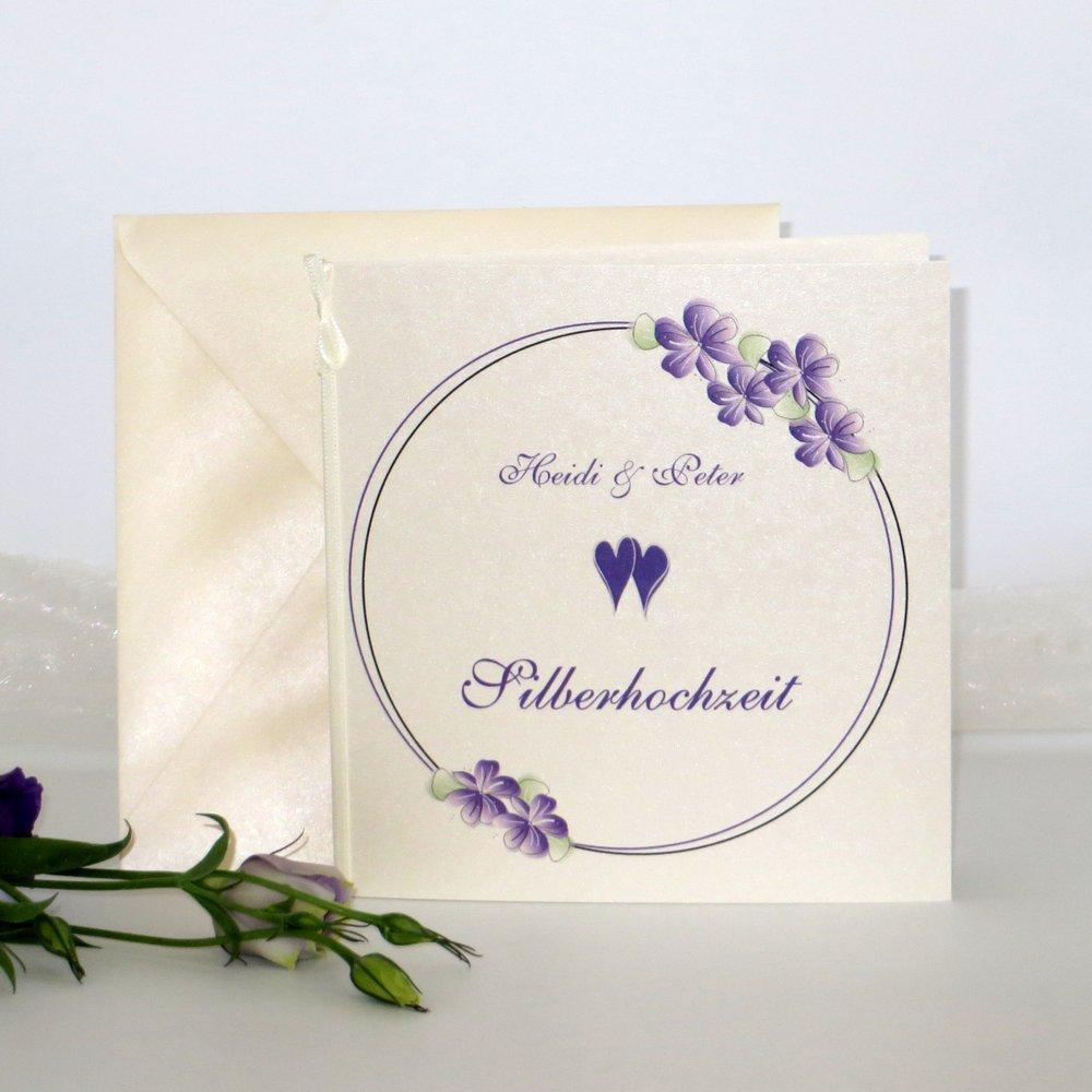 Blumenkranz lila Silberhochzeit