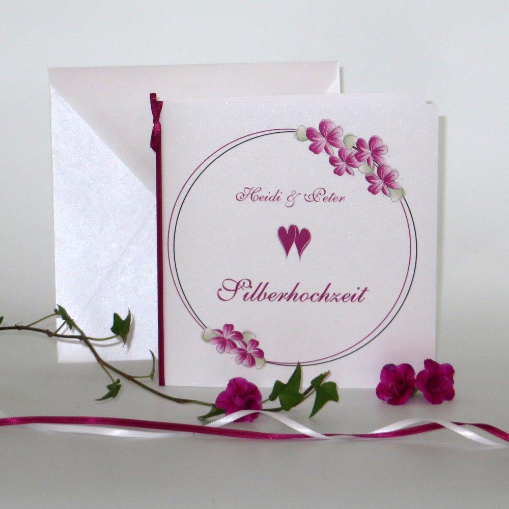 Blumenkranz pink Silberhochzeit